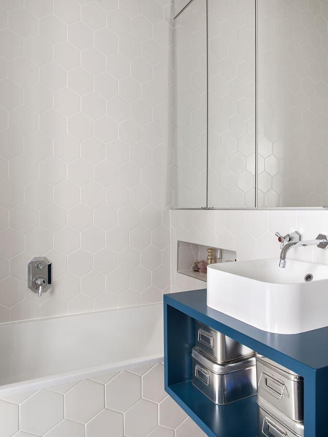 Baño muy pequeño y minimalista de 3 metros²