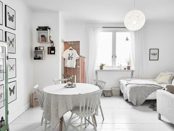 Decoración de minidepartamentos: 38 metros² de estilo nórdico 1