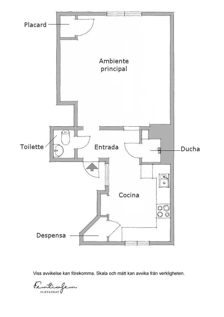 Decoración de minidepartamentos: 38 metros² de estilo nórdico 16