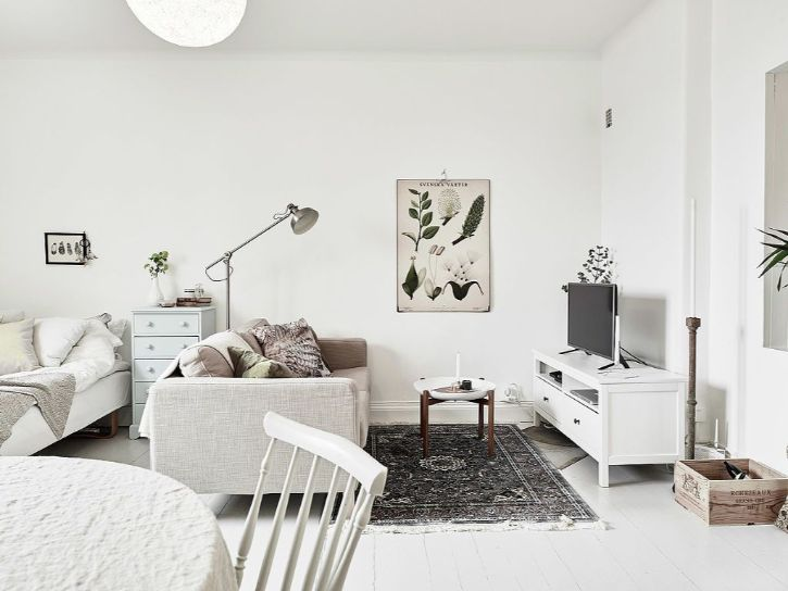 Decoración de minidepartamentos: 38 metros² de estilo nórdico 3