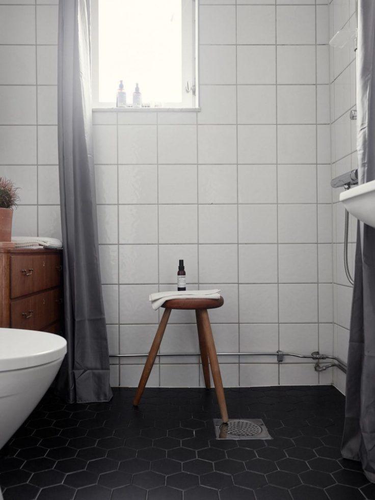 Departamento pequeño nórdico de 51 metros²: baño 17