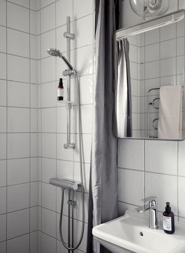 Departamento pequeño nórdico de 51 metros²: baño 18