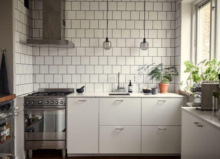 Departamento pequeño nórdico de 51 metros²: cocina independiente con comedor integrado 1