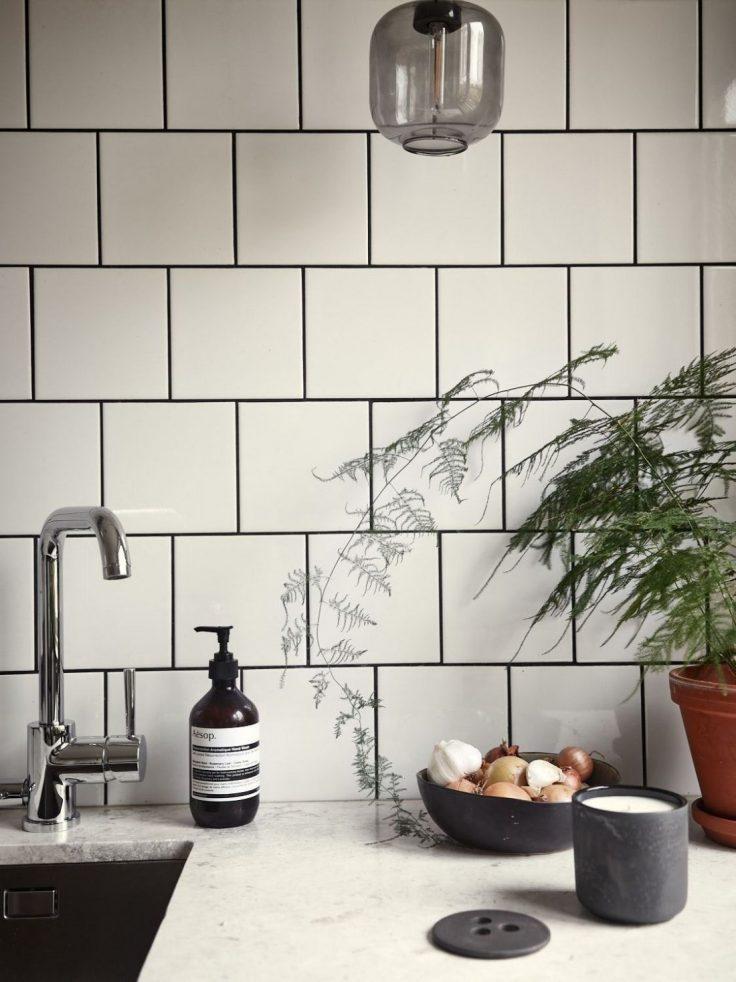 Departamento pequeño nórdico de 51 metros²: cocina independiente con comedor integrado 2