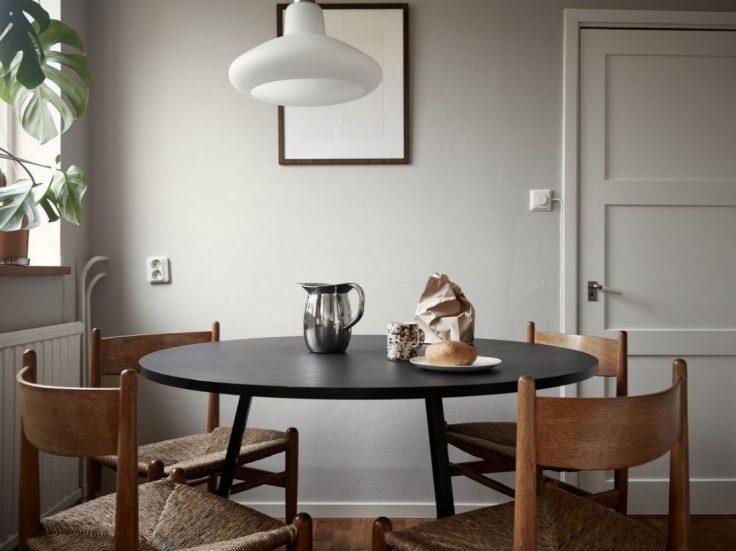 Departamento pequeño nórdico de 51 metros²: cocina independiente con comedor integrado 4