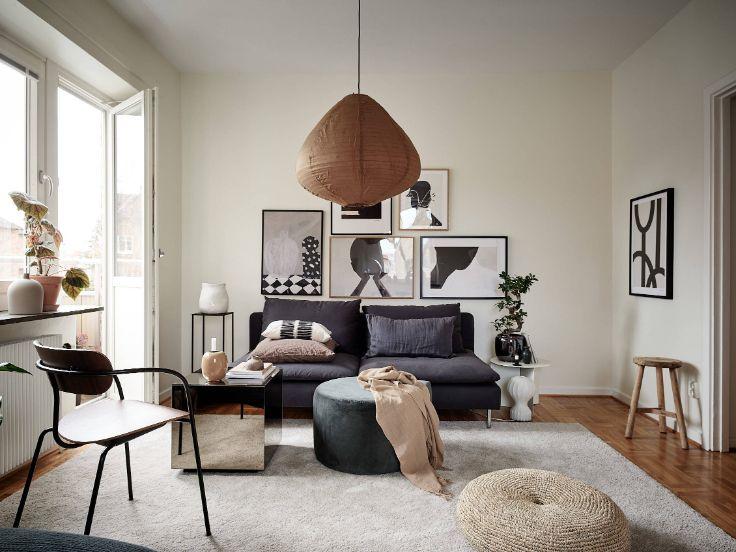 Departamento moderno pequeño con ambientes integrados