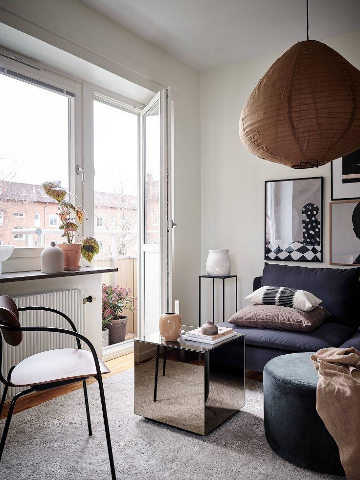 Muebles de pequeño tamaño pero versátiles funcionalmente son ideales para este tipo de espacios