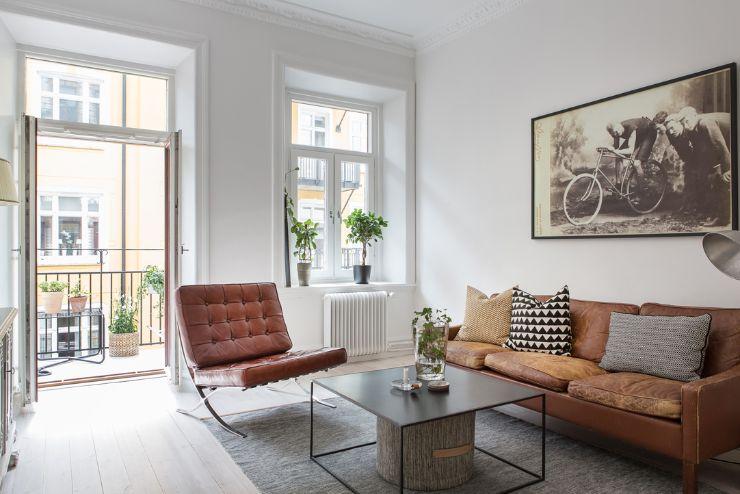 Mix de estilos y muebles en la decoración de un departamento de 1 dormitorio