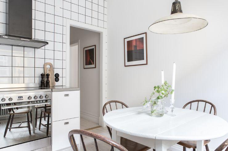 Cocina con comedor incorporado en estilo nórdico - moderno - industrial