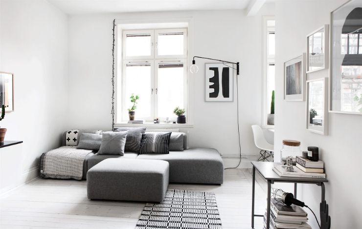 Departamento con decoración minimalista moderna