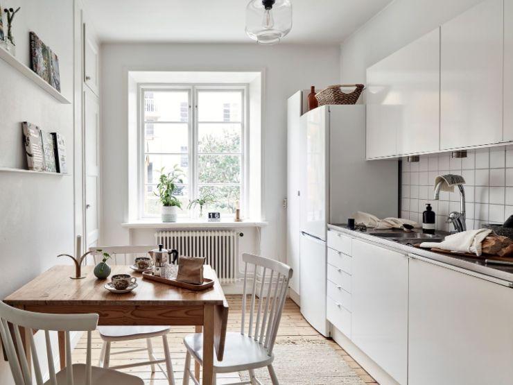La cocina del departamento es un espacio sumamente acogedor y a la vez minimalista