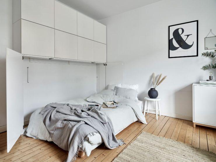 Sector del dormitorio integrado a la sala