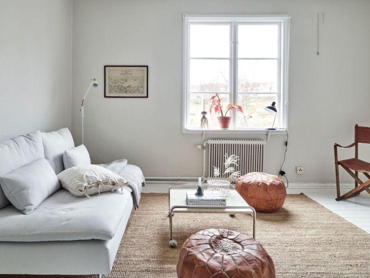 Decoración de espacios pequeños: departamento estudio minimalista de 37 metros²