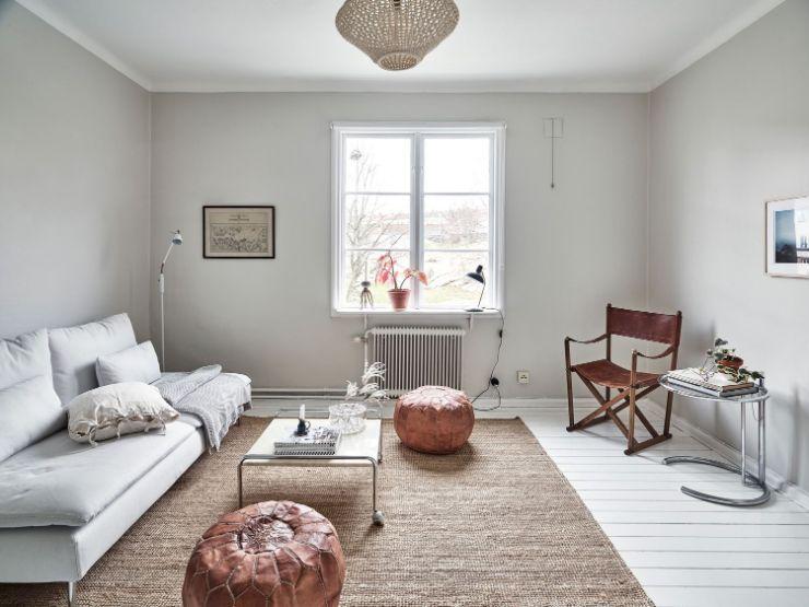Sala minimalista con muebles modernos