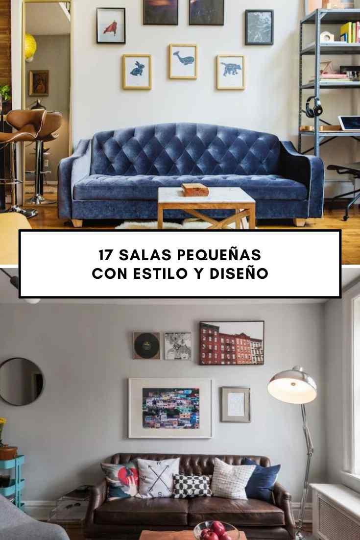 Diseño y decoración: 17 salas pequeñas con mucho estilo e ideas