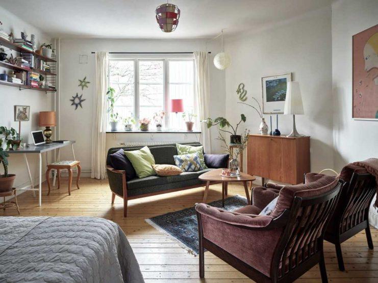 Estilo retro vintage en la decoración de un departamento de 36 metros²